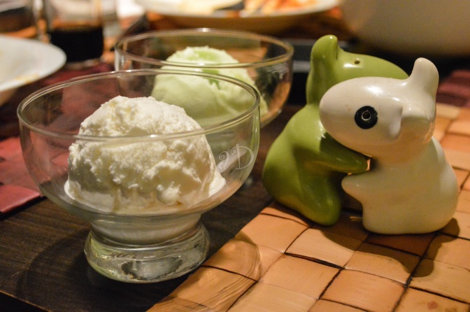 Wasabi and Coconut Ice Creams