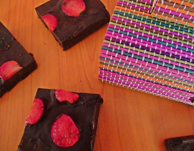 strawberry brownie 1